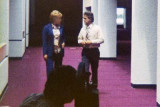 1977 - WPLG-TV Channel 10's Ann Bishop interviewing Aviation Director Dick Judy in the new about-to-open E-Satellite