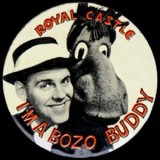 1950s & 60s - Charlie Baxter on the Royal Castle I'm a Bozo Buddy club button