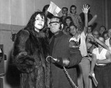1950s & 60s - Charlie Baxter as M. T. Graves with the fur coat lady and audience on WCKT-TV Channel 7 Miami