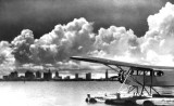 1938 - Pan American Airways System Fairchild 71 and downtown Miami