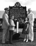 1953 - Dedication of historical marker at Dinner Key for Pan American and the U. S. Coast Guard