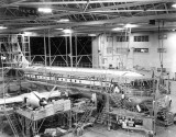 1950 - Pan American B-377 Stratocruiser undergoing maintenance at Miami