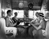1931 - Interior view of the Pan American Airways System Sikorsky S-40 aircraft NC-80V American Clipper