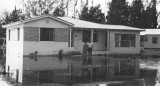 1947 - home and residents of 32 Hammond Drive, Miami Springs, after the Flood of 1947 caused by Hurricane VI