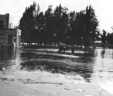 1947 - the Circle and Miami Springs Pharmacy from the bridge after the Flood of 1947 caused by Hurricane VI