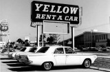 1964 - Yellow Rent a Car on Collins Avenue (A1A), Sunny Isles