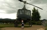 July 2007 - Kyler M. Kramer with Vietnam-Era Huey at the Vietnam Veterans National Memorial