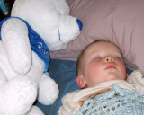 March 2007 - Kyler sleeping on our floor after a busy day