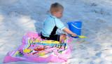 April 2007 - Kyler playing on Lake Suzie beach in Miami Lakes