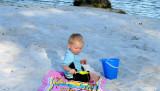 April 2007 - Kyler on Lake Suzie beach in Miami Lakes