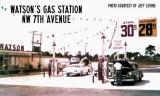 1950s - Watson's Gas Station on NW 7 Avenue, Miami, Florida
