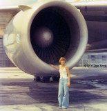 YN2 Karen Sherfick and the #3 engine of a National Airlines DC10