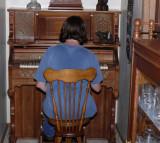 Annette At The Pump Organ