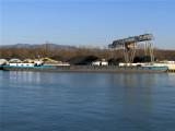 Barge at a coal depot
