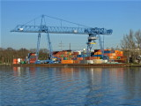 A Container barge loading depot  2095
