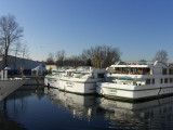 Winter rest for the pleasure boats