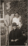 Husband's paternal  grandparents &  great-grandmother 1940s