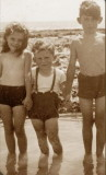 On the beach at Hove 1948
