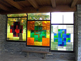 STAINED GLASS IN REST SHELTER