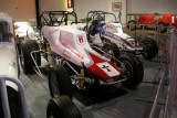 1974 Maxwell Sprint Car, front, and 1970 Trevis Sprint Car, with Chevy V8s. ISO 200, 1/5.1 sec., f/2.7.