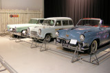 1952 Studebaker (right), 1957 Ford Squire Wagon (English) and 1956 Lincoln. ISO 200, 1/2.8 sec., f/2.7.