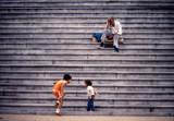 U.S. Capitol steps, Washington, D.C., 1982.