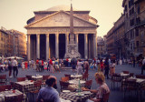 A Roman Empire relic, the Pantheon is one of Rome's oldest intact buildings. 1982.