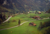 Switzerland, photographed from moving train, 1987.