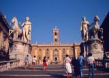 Piazza del Campidoglio, largely designed by Michelangelo,  Rome, 1982.