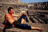 Saw this man at the Colosseum, Rome, 1982. Fortunately, he agreed to be photographed.