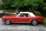 1965 Ford Mustang at Ladew Topiary Gardens