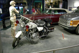 Highway patrol motorcycle, 1975. The California Highway Patrol became famous for its motorcycles.
