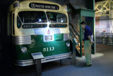 This 1950 Fageol Twin Coach Old Look liquefied-propane gas-powered bus was used in Omaha, Nebraska, in the 1950s and 1960s.