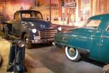 1945 Cushman Model 52 Pacemaker scooter, 1949 GMC Model FC-102 pickup truck, 1950 Studebaker Champion Starlight.