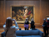 Rubens's masterpiece attracts an audience.