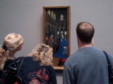 Visitors examine The Annunciation.
