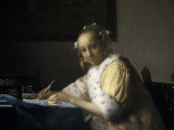 (9) Johannes Vermeer, A Lady Writing, 1665