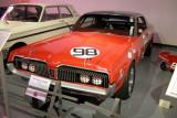 1967 Mercury Cougar Trans-Am Racer with 289 cid, 390 hp V8; driven by Dan Gurney. ISO 200, 1/3.8 sec., f/2.7.
