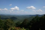 Cradle Of Forestry Overlook on the Blue Ridge Parkway.  General direction of Brevard, NC.