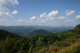 Looking back in the general direction of Waynesville, NC from the Blue Ridge Parkway.