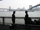 NYPD officers and New York City bridges