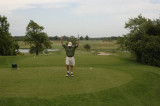 Bill great par 3 shot at the Orchards