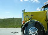 yellow truck cab