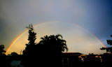 The Very Cool Rainbow centered over our house - East View