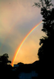 The Other End of a Rainbow - touching the other side of the porch!