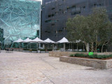 Early morning on a cold day at Federation Square