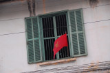 Luang Prabang Window with Red Sickle