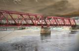 Railroad bridge in PS