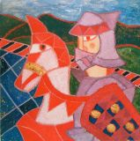 horse and knight  ela-70p-olio-1978.JPG