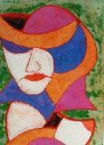 woman with hat-16x20-panel-mixed media1998.JPG
